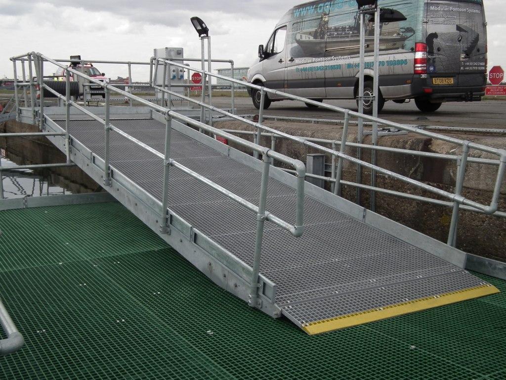 fabricated marine walkways
