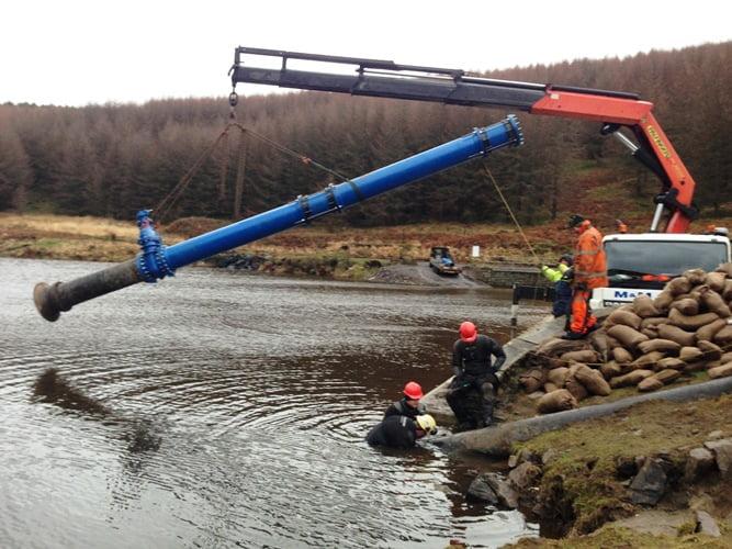 reservoir pipe installation