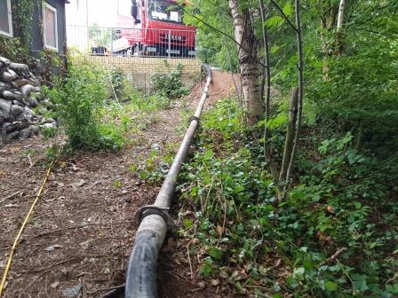 Pipeline formed to enable concrete pour
