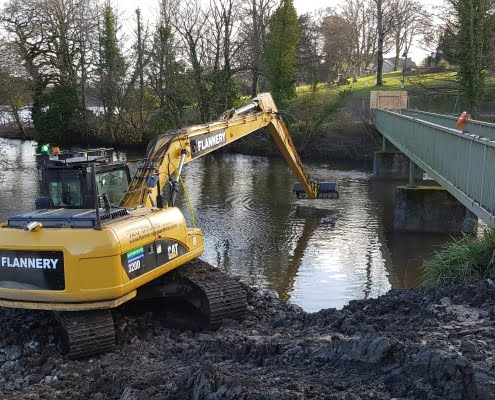 Caerphilly Castle Silt removal